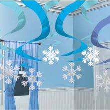 Festa Frozen Decori Turbini e fiocchi di Neve