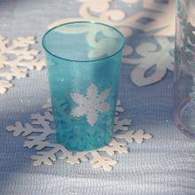 10 Bicchieri Plastica Azzurro Ghiaccio