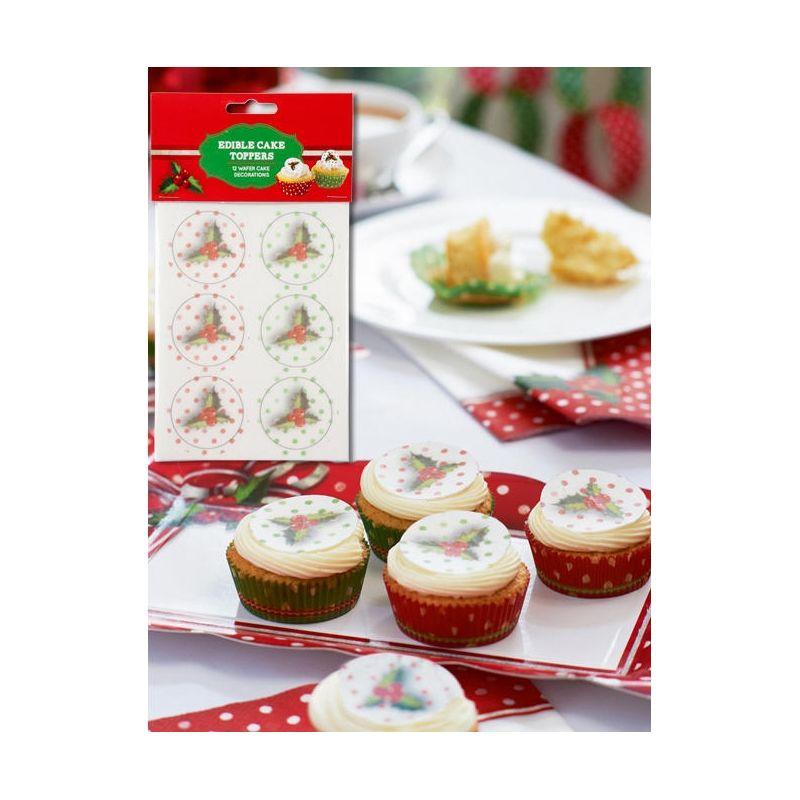 Decorazioni cialda per dolci e tartine natale wimipops - Decorazioni natalizie per dolci ...