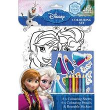 Set per colorare e adesivi Disney Frozen
