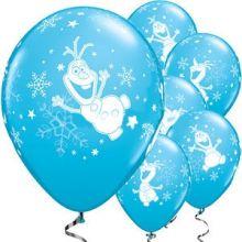 Palloncini Azzurri con Olaf e fiocchi di neve