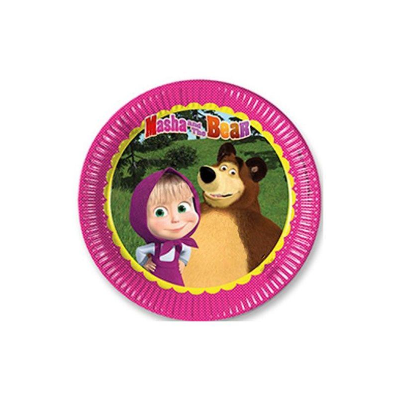 Piatti di carta masha e orso wimipops for Masha e orso stampa e colora