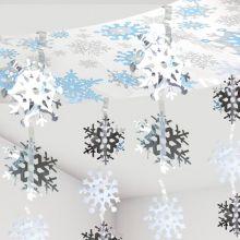 Ghirlanda di neve tridimensionale