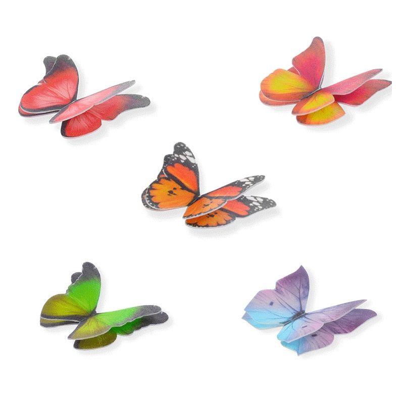 Farfalle In Cialda Per Decorazioni Torte 2d 6 Pz