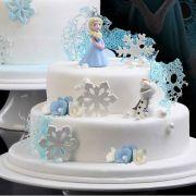 Torta Frozen Neve Elsa Olaf