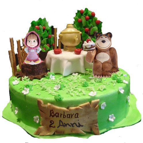 Torta Masha E Orso Wimipops