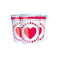 San Valentino Biccieri di Carta Cuore Rosso