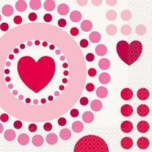San Valentino Tovaglioli Cuore Rosso