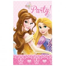 6 Biglietti di Invito Party Principesse Disney