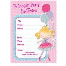 Principessa Biglietti Inviti e Ringraziamento
