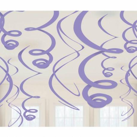 Festa Violetta Decoro Spirali Rosa