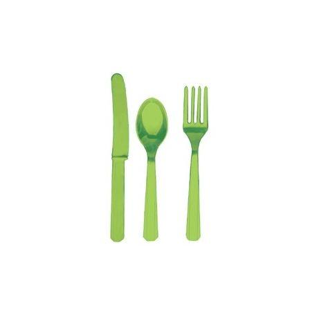 Party Verde Posate Assortite 18 pz