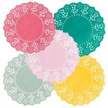 100 Centrini Sotto Bicchieri mix colori
