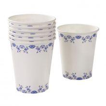 Blue e White 12 Bicchieri di carta