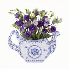 Teiera Centrotavola fantasia ceramiche blu