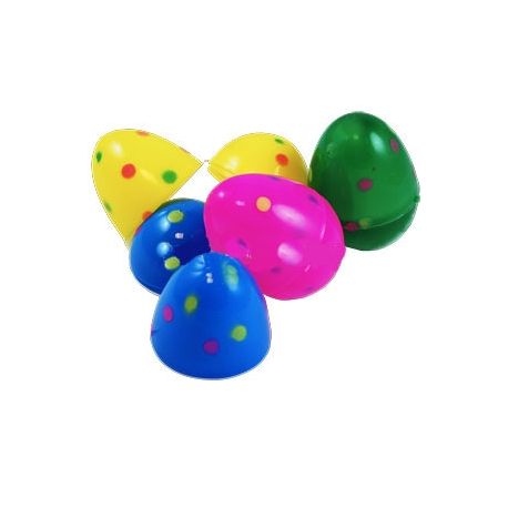 Uova di Pasqua  in Plastica Colorate