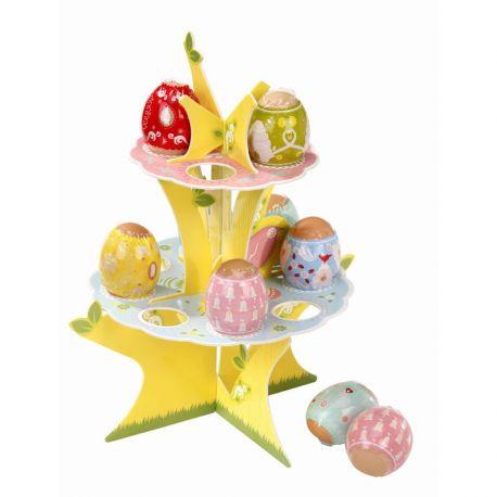 Pasqua alzatina uova e  Kit decorazioni