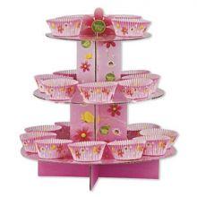 Alzatina Cupcakes  Fiori con 24 Pirottini