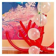 Kit decoro palloncini coralli rossi e bolle