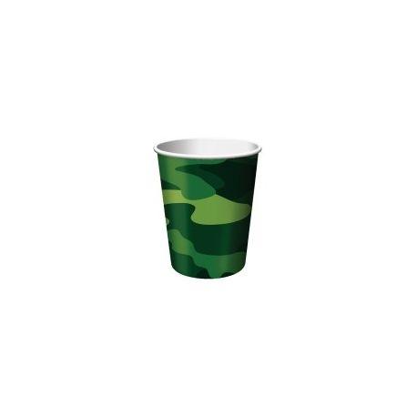 Festa Mimetica  Bicchieri Carta 8pz