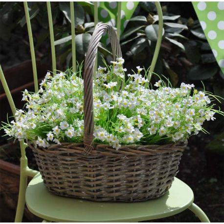 Cesto Grande con fiori bianchi