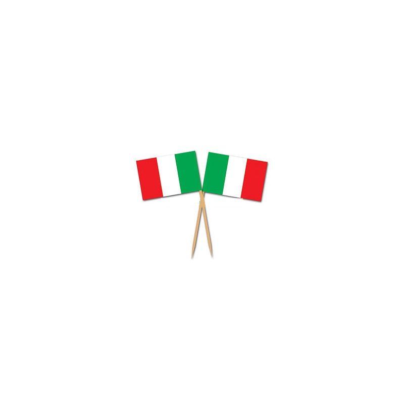 Pick stuzzichini Italia Tricolore 50 pz - Wimipops