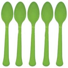 Party Verde 20 Cucchiaini  Plastica