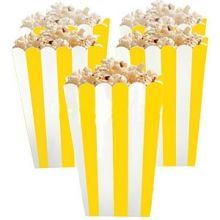 5 Porta popcorn strisce gialle