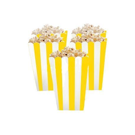 Porta popcorn strisce gialle