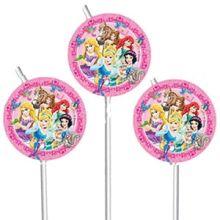 Principesse Disney 6 Cannucce con decoro