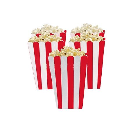 5 Porta popcorn strisce rosse