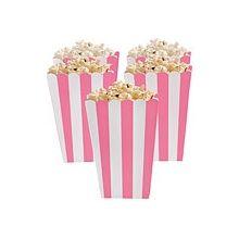 5 Porta popcorn strisce rosa
