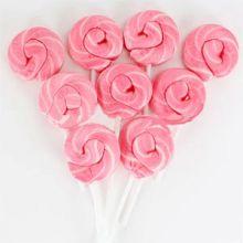 8 Lollipops Rosa e Bianchi