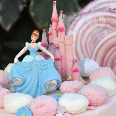Kit Decorazione In Zucchero Per Torta Cenerentola E Castello
