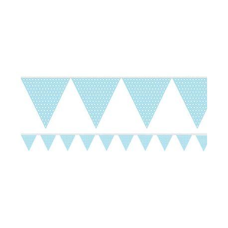 Festone azzurro pois bianchi