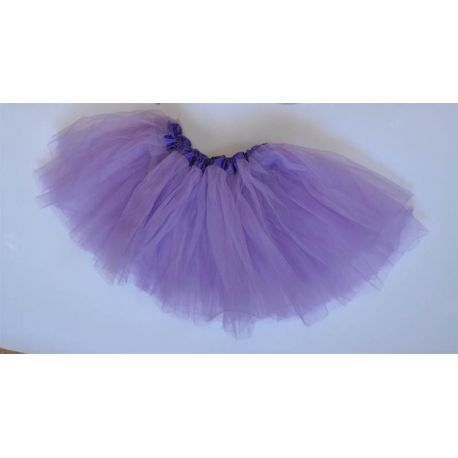 Gonnellina in tulle color violetto