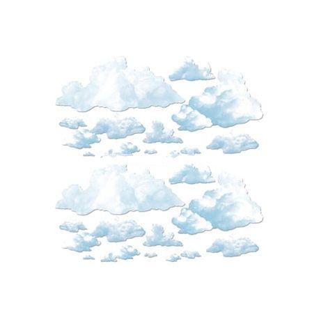 Decorazione murale nuvole