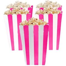 5 Porta popcorn strisce fucsia