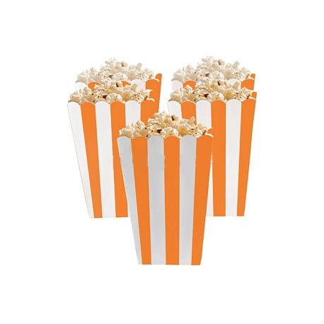 5 Porta popcorn strisce arancioni