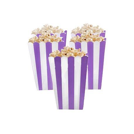 5 Porta popcorn strisce violetto