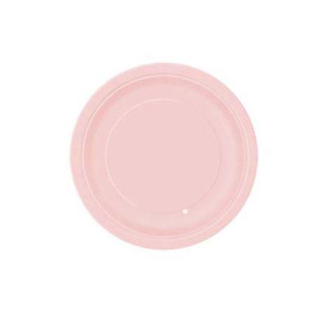 Piatti di Carta Rosa Pastello 17cm 8 pz
