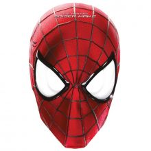 6 Maschere in cartoncino Spiderman