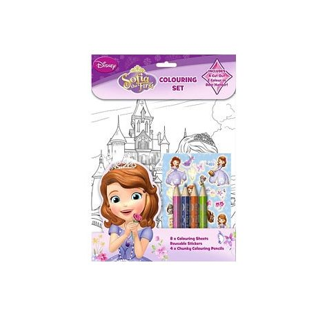 Set per colorare e adesivi Sofia The First