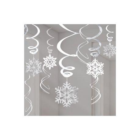 Festa Frozen Decori Turbini e fiocchi Neve