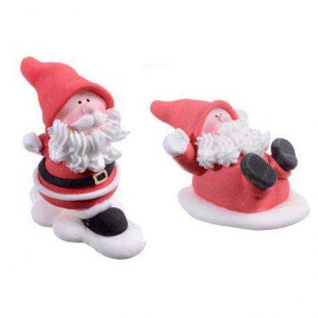 Decorazioni in zucchero Babbo Natale