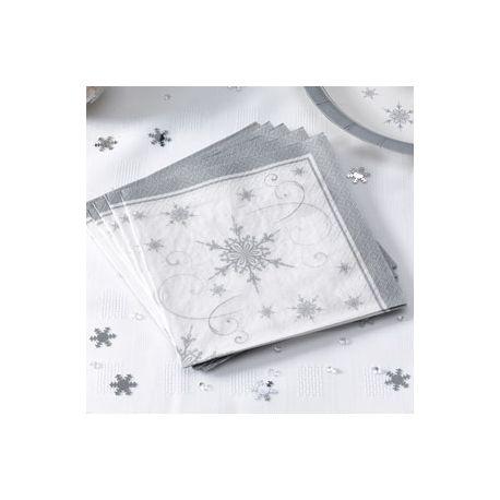 Tovaglioli fiocchi di neve argento