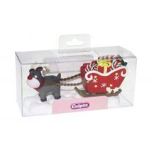 Decorazione torta di Natale  Rudolf e slitta
