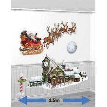 Decorazione Murale Slitta  Babbo Natale