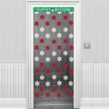 Decorazione Natale fiocchi di neve per porta