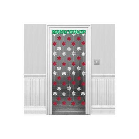 Decorazione natale fiocchi di neve per porta wimipops for Decorazione natalizia per porta